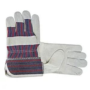 Перчатки рабочие из кожи и спилка